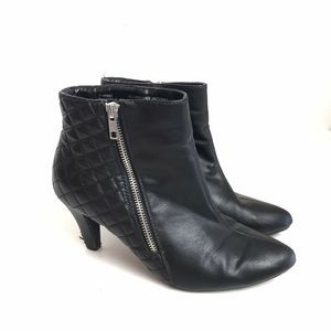 Rialto Vegan Leather Quilted Ankle Boots